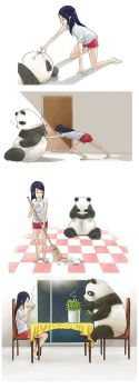Panda Days by currybread