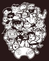 The Forgotten Mega 16 Bit T-shirt Design by alsnow