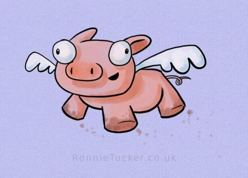 Flying Pig by ronnietucker