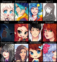 2014 summary of art by Nataliadsw