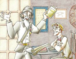 Thaddeus and Milo Thatch by KN-KL
