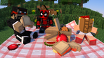 Aurey, Cap and Me havin' a Picnic by Michael-AngeloXI