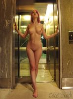 Naked Elevator by AlexiaPik