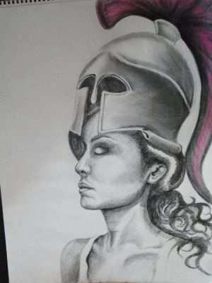 Self Portrait: Me as Athena