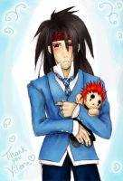 Vincent and Axel Plushie by OP-KingdomHearts-DS