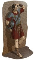 Commish:Ezio as Roman Soldier by doubleleaf