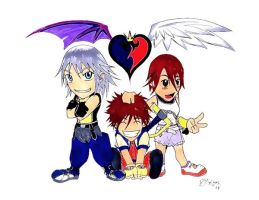 full colored KH chibi fan art by SanfamProductions