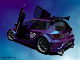 Widebody EG6 High Poly WIP 5 by ragingpixels
