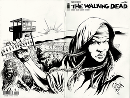MICHONNE/TWD - cover blank by RONJOSEPH-ARTIST