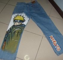 Naruto Painted on Jeans-back- by Lain-Navi