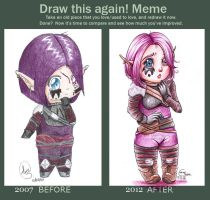 Meme : Draw this again ! by Velyne