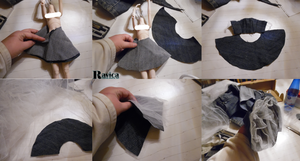 Making of my first doll dress pattern 4 by Ravica