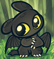 Chibi Toothless  How To Train Your Dragon By Drago by meowmeowmix22
