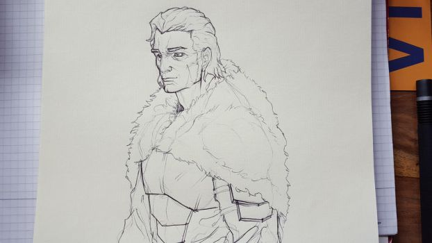 Warrior 1 sketch by Knullwes