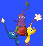 Pikmin carrying fruit by ice-cream-skies