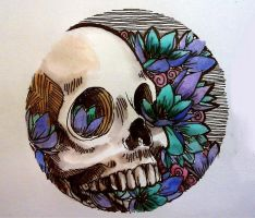 iris skull circle by JACKIEthePIRATE