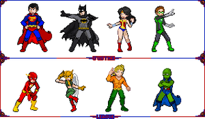 Justice League by 8bitattorney