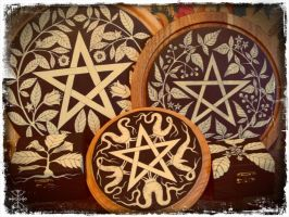 Solanaceous Altar Pieces and Apothecary Boxes by Lolair