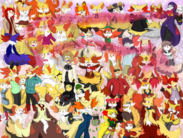 The Foxes with Massive Earhair Convention by Dapuffster
