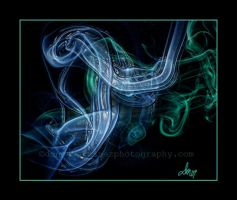Smoke Art Blue and Green by fotophi