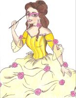 Masquerade Belle by x--Lauren--x