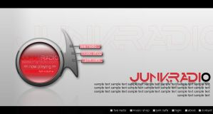 Web Layout - JunkRadio by freakyframes