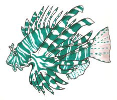 Technicolor Lionfish by BrowncoatFiction