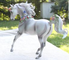 Breyer Unicorn Aurora Stock 5 by Lovely-DreamCatcher
