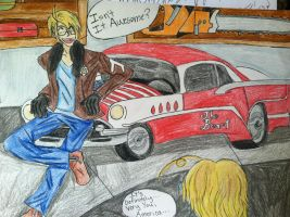 The America-Mobile! ~For PerfectDose by Amyxkuzunoha1997