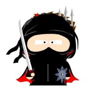 A Ninja  South Park Style by ZX-Wolf