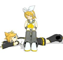 Len and Rin by crimzonthehedgehog