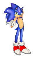 Sonic in Tails shoes by TheDarkShadow1990
