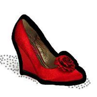Red Shoe paint by Maellanie
