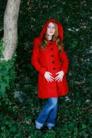 Red Hooded Coat by DaisyViktoria