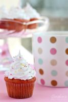 Vanilla cupcake with cherry 2 by kupenska