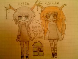 happy birthday rinna by ProxyBunny