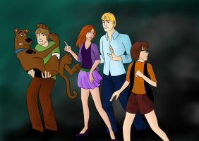 Scooby and the Gang by GreenVertEmerald