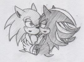 Sonadow Scribble 1 by BlueNeedle-Inu