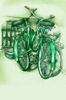 GREEN RIDES by outofmypen