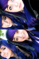 Purple And Blue Twins by VallyDream