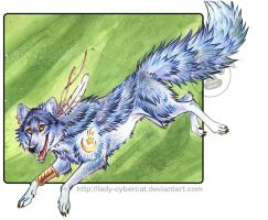 Magic Wolf Remus by lady-cybercat