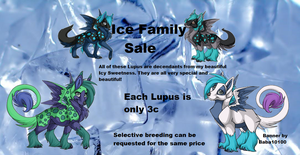 Ice Family Sale Banner - Ovipets by starscreamfan10100