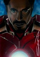 Iron Man 2 Sketch Card by RandySiplon