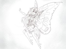 High tech fairy Commish WIP5 by iamniquey