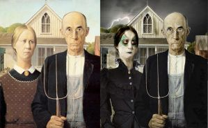 Gothic American Gothic by CyranoInk
