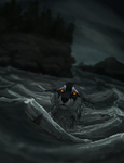 adrift and suddenly alone by Canis-ferox