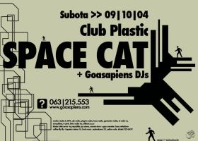 Space Cat Party Poster by technodrombg