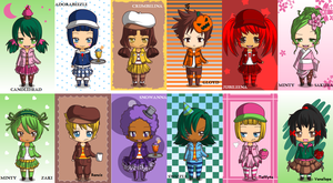 Sugar Rush Racers In Chibi Version! by hay123lin