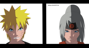 Naruto and Nayumi Colored by Sarah927
