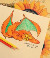 Sleepy (Charizard+Pikachu) by DarksideofChocolate